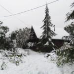 בקתה, צימר בגליל,שלג